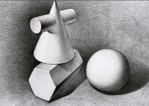 洛阳高考美术培训之石膏素描组合的难度分析
