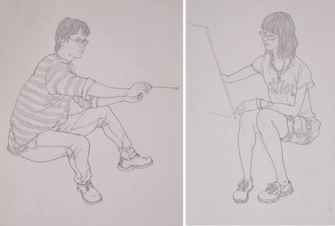 洛阳最好画室老师讲解怎样表现好速写人物中的动态